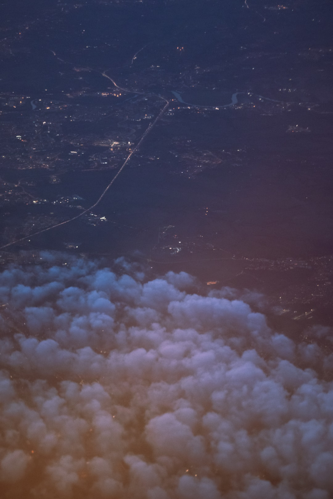 View from the airplane, over Europe