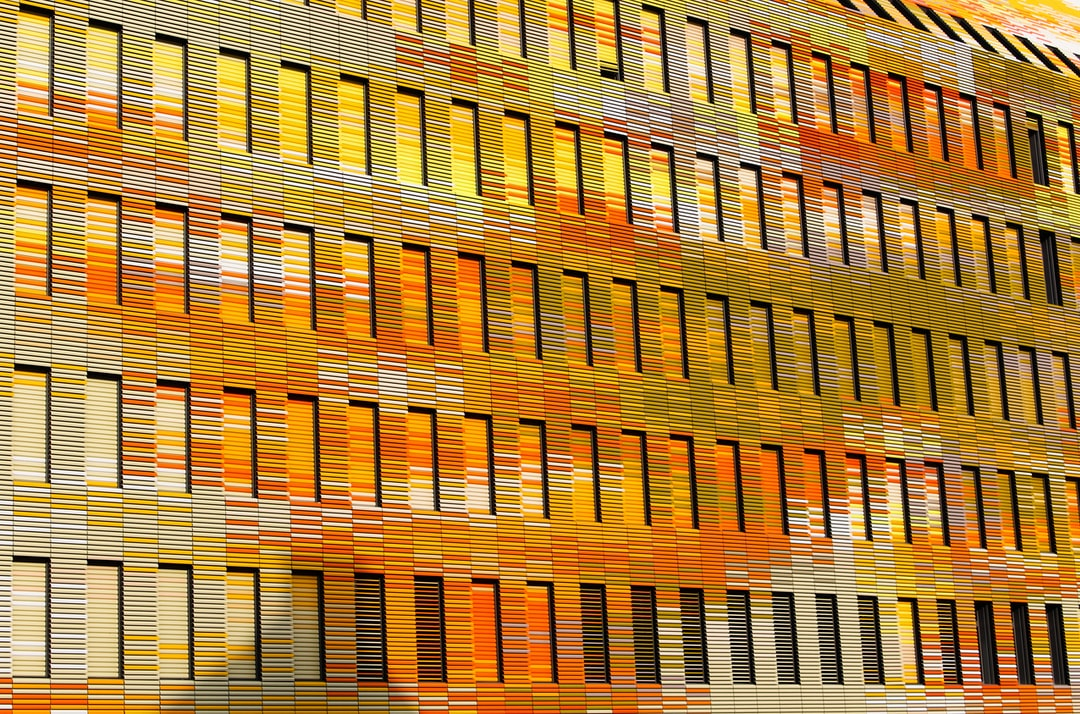 Architecture & art : Color windows on the front