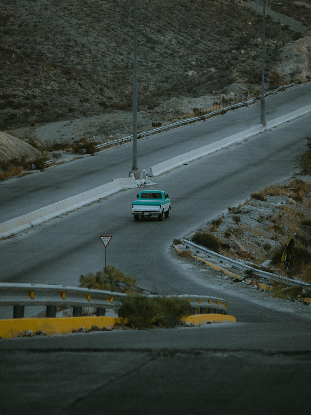 pickup truck on road