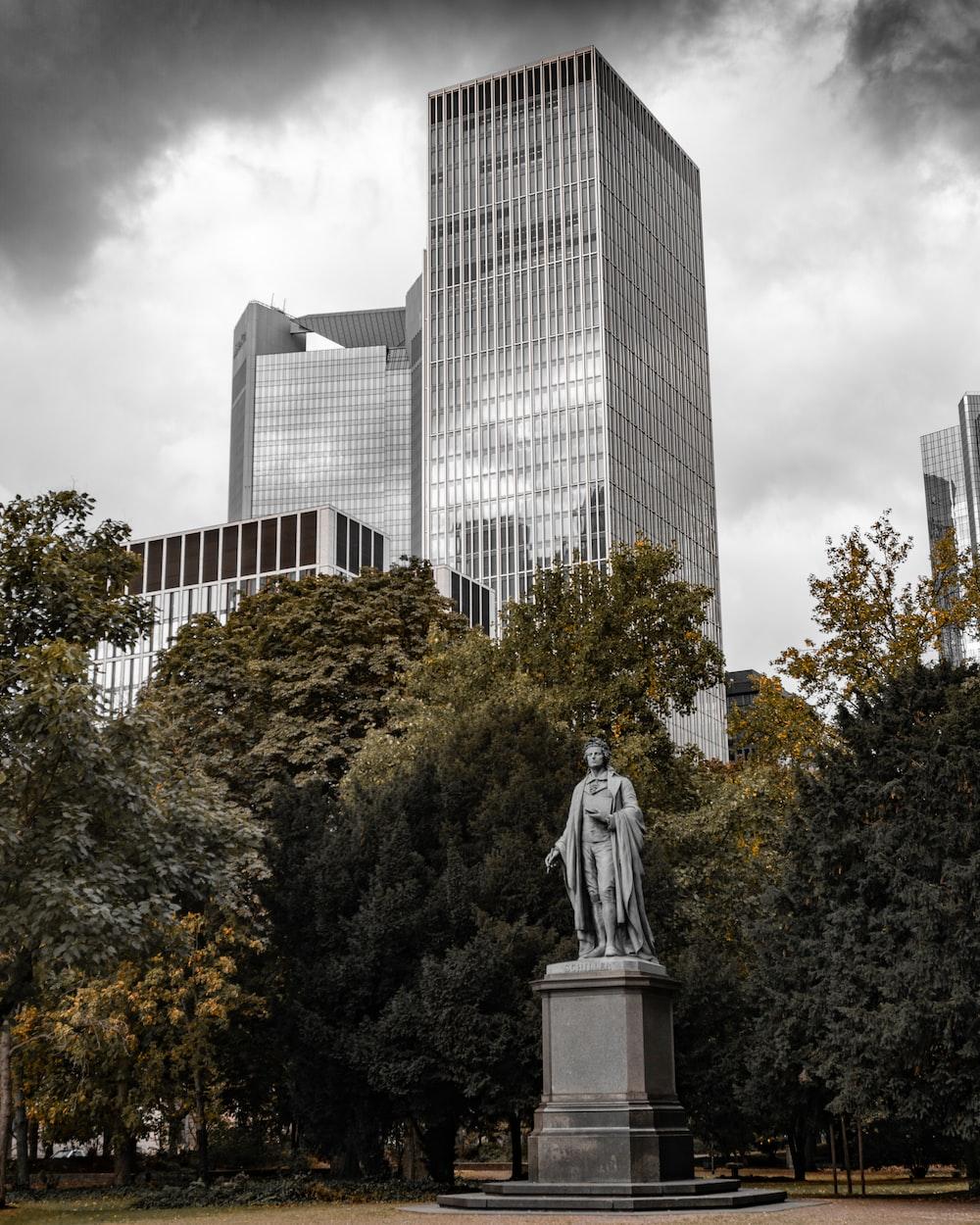 male statue in park