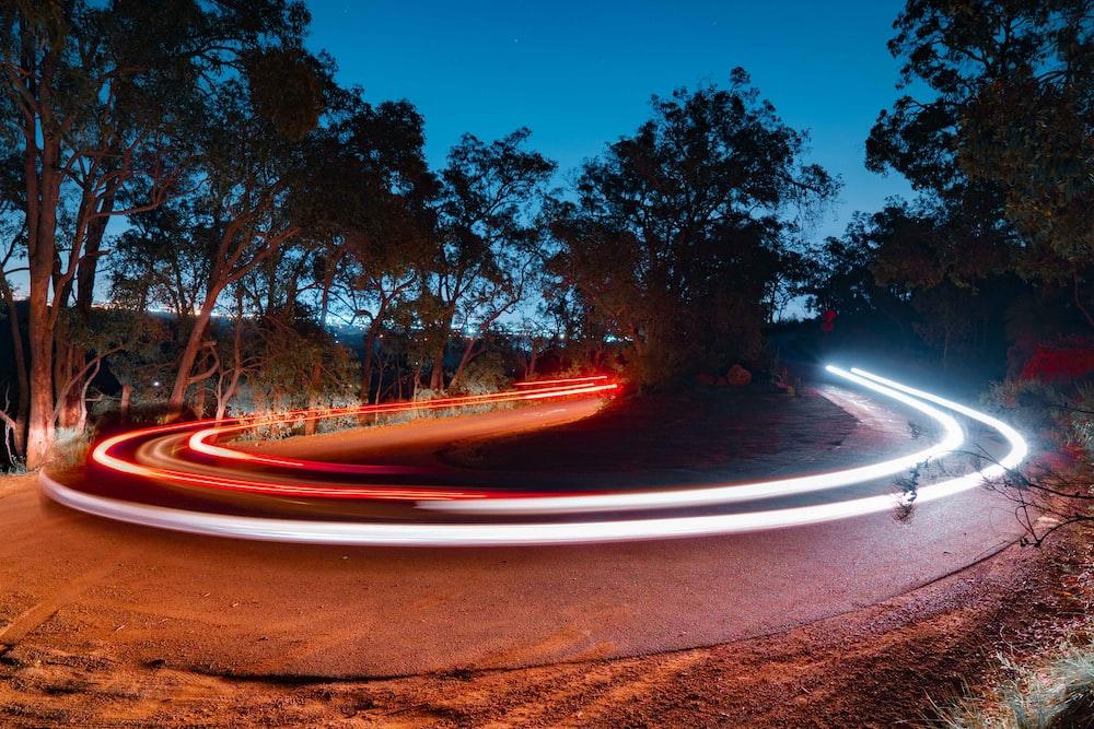 long-exposure of light