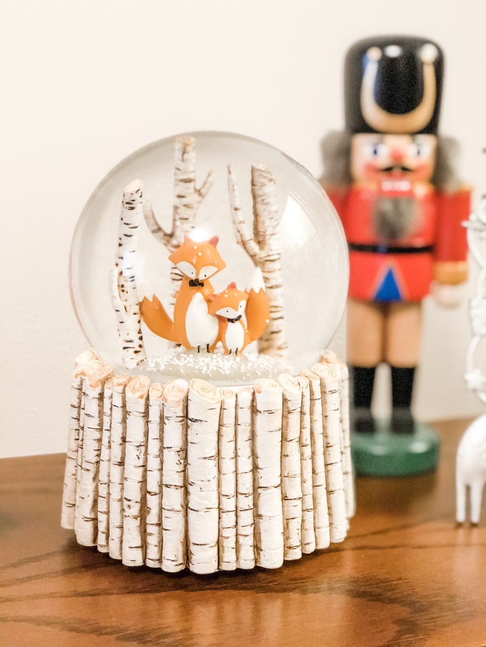 red fox water globes