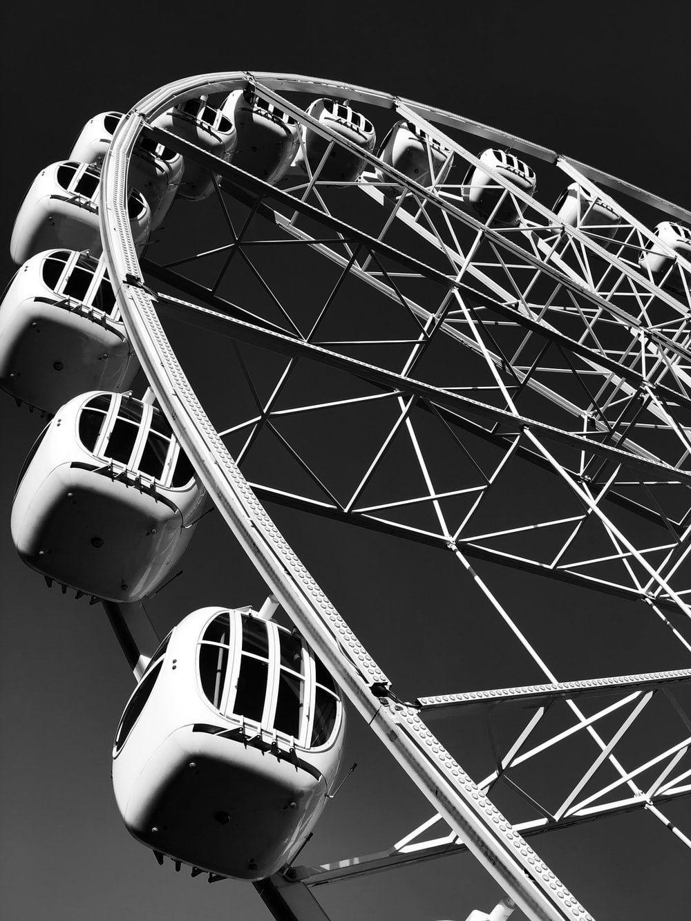 greyscale photography of Ferris Wheel