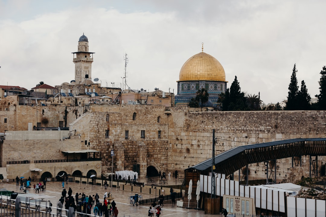 """Western Wall, Old City, Jerusalem. A beautiful picture of the Kotel also known as the """"Wailing Wall"""", During winter time."""