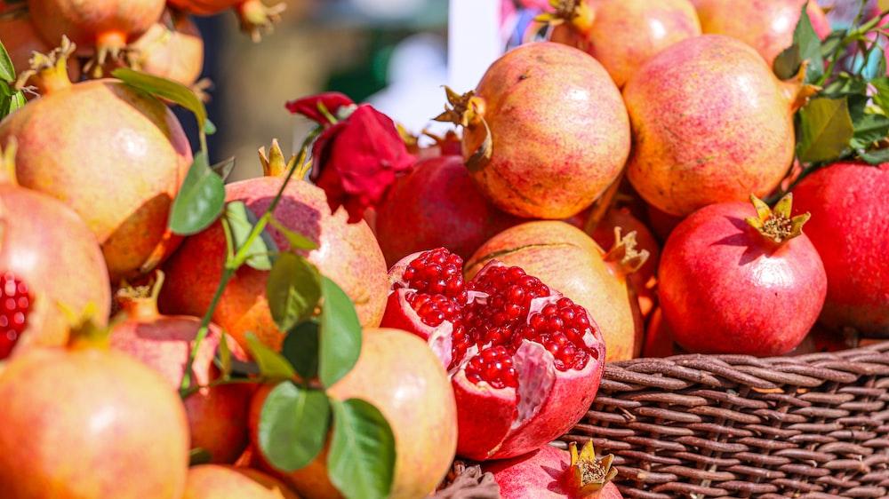 baskets of pomegranates