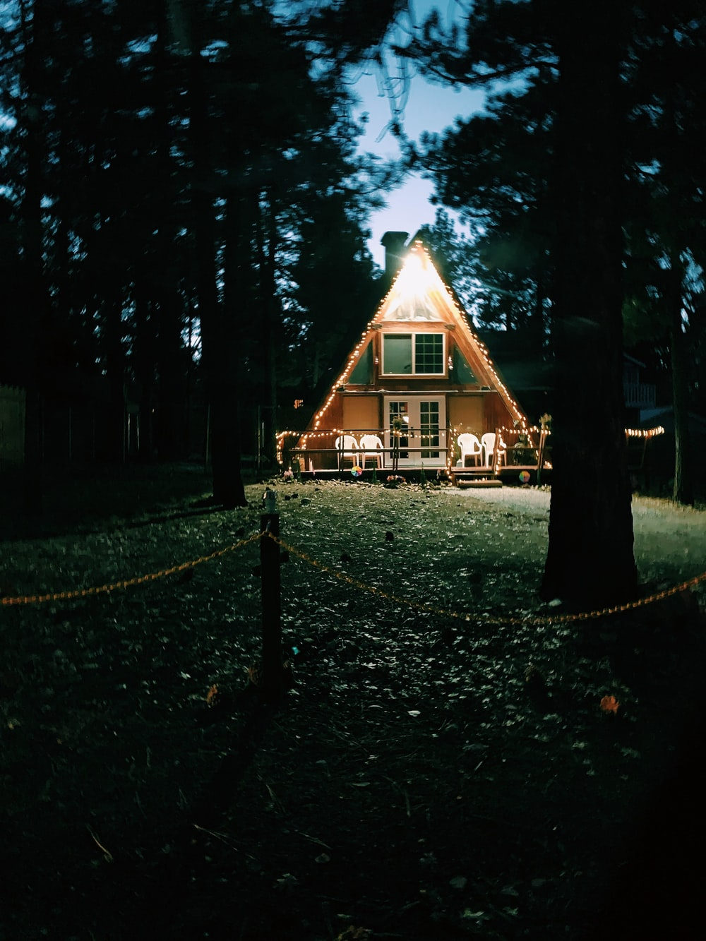 brown wooden shack beside trees