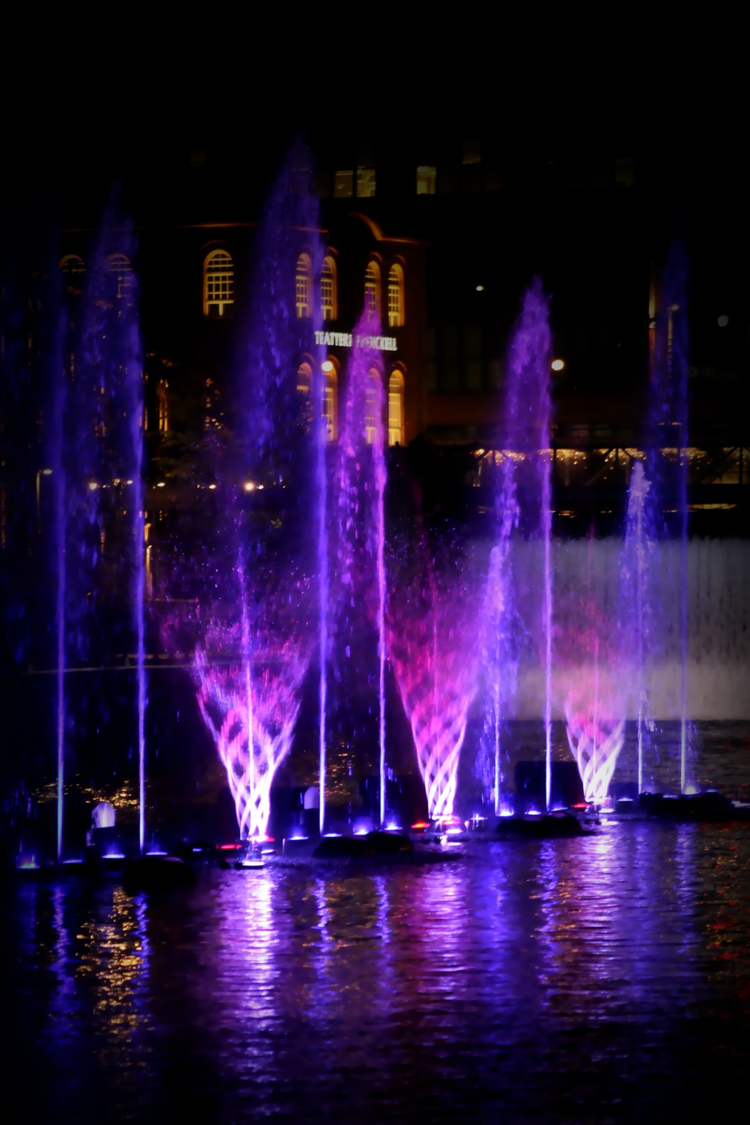 Dancing fountain, Tampere, Finland