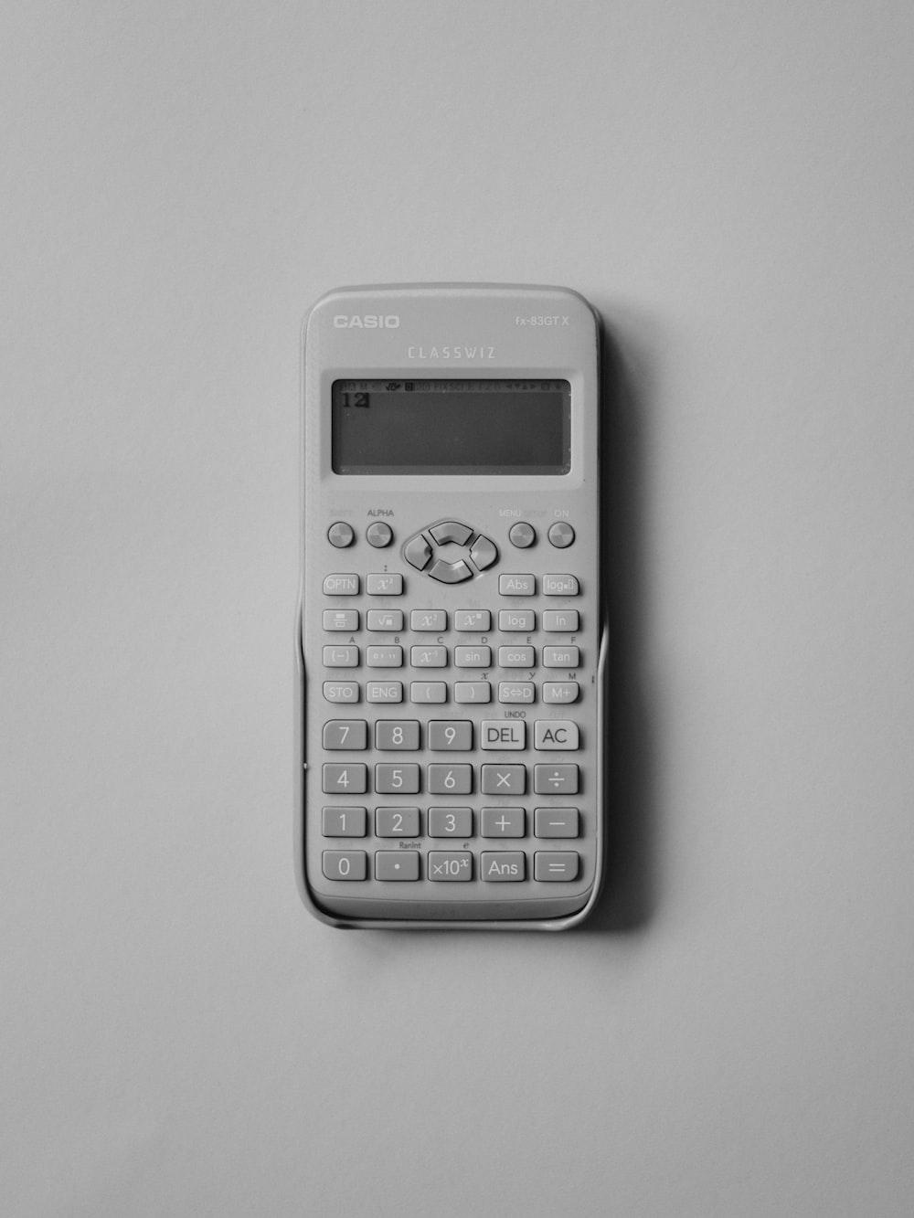 white Casio calculator