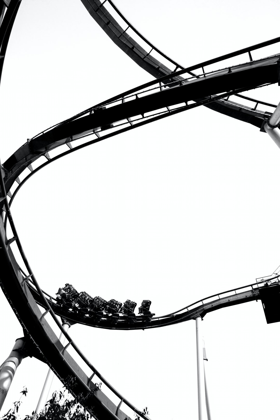 Rollercoaster in Copenhagen, with strong black and white effect