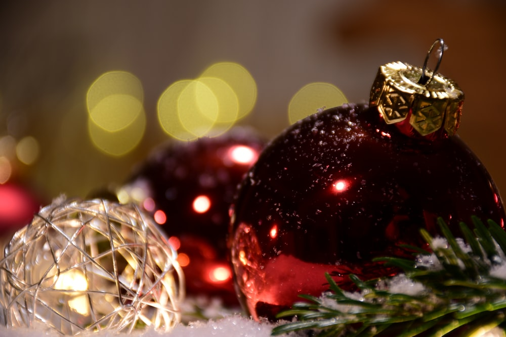 red bauble ball