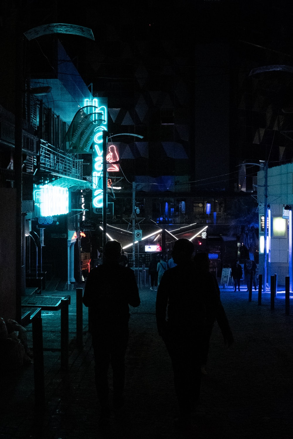 turned-on neon sign at night