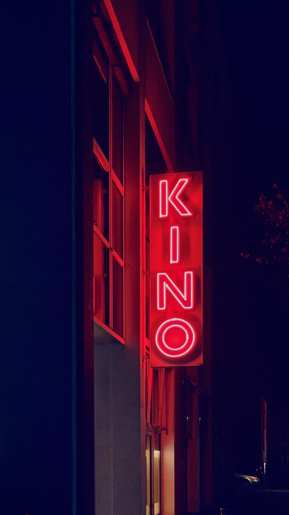 red Kino LED signage