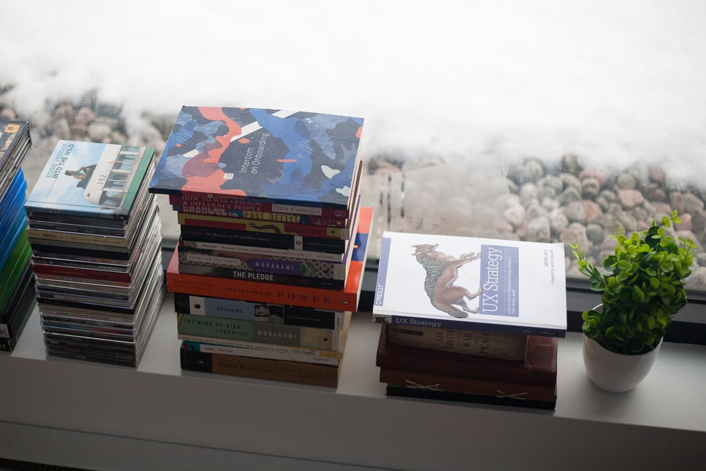 piled of books