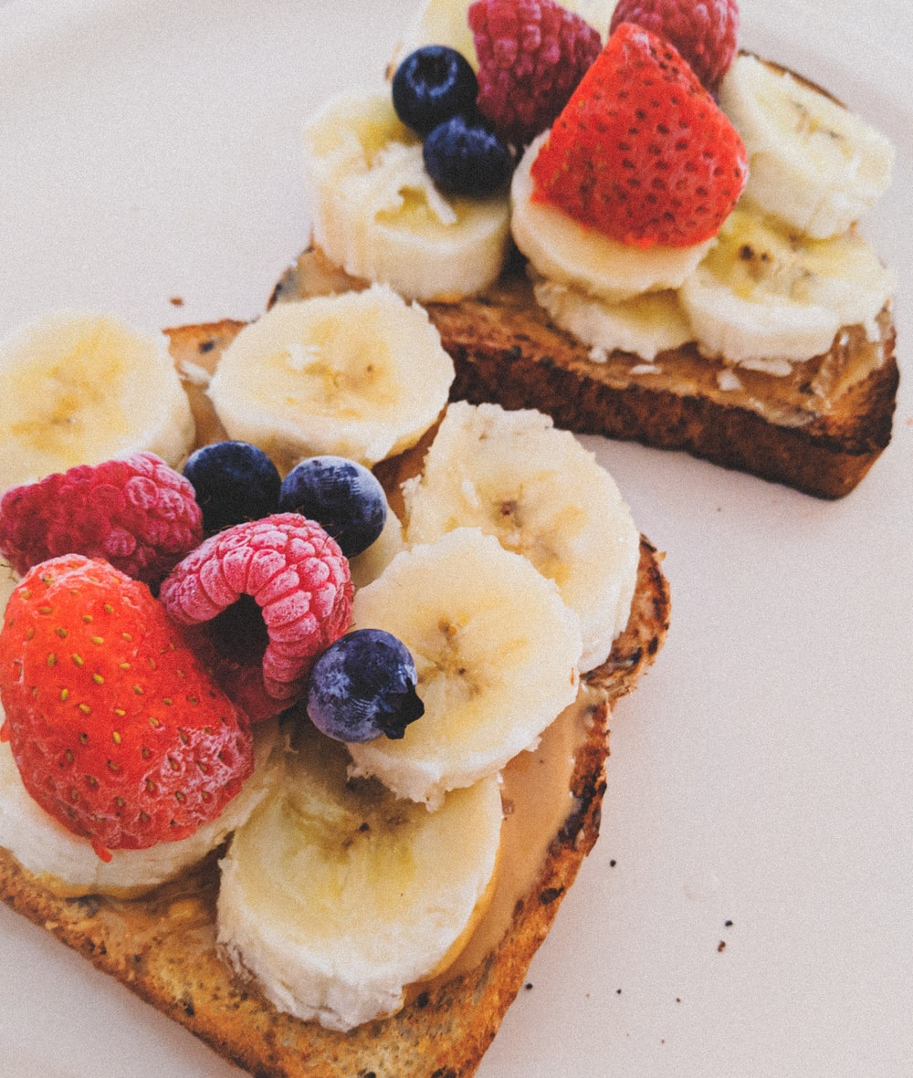 fruit salads with breads