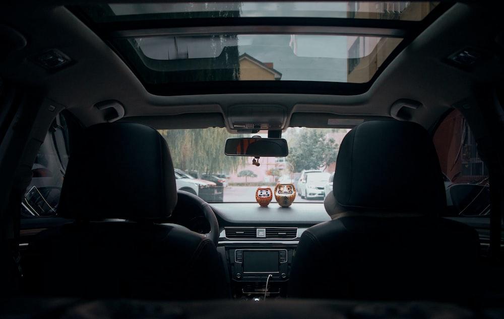 photo of black vehcile dashboard
