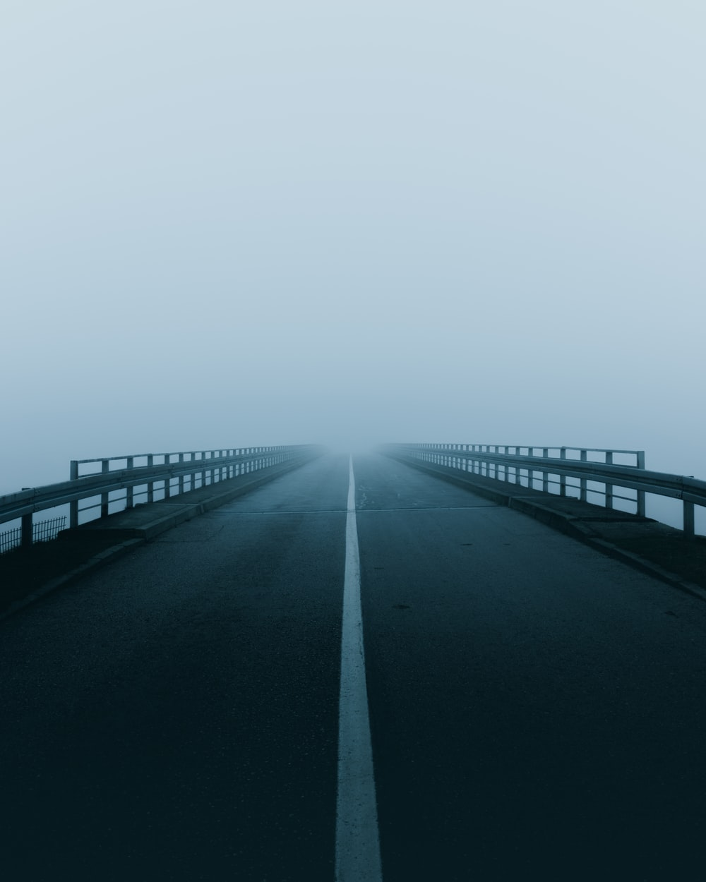 road with mist