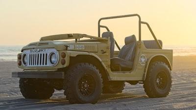 yellow jeep wrangler suzuki zoom background