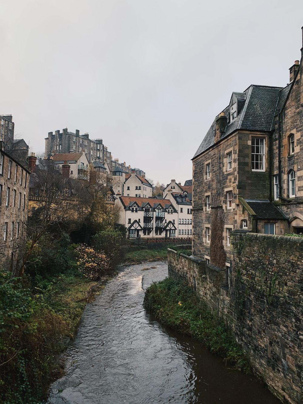 houses beside river