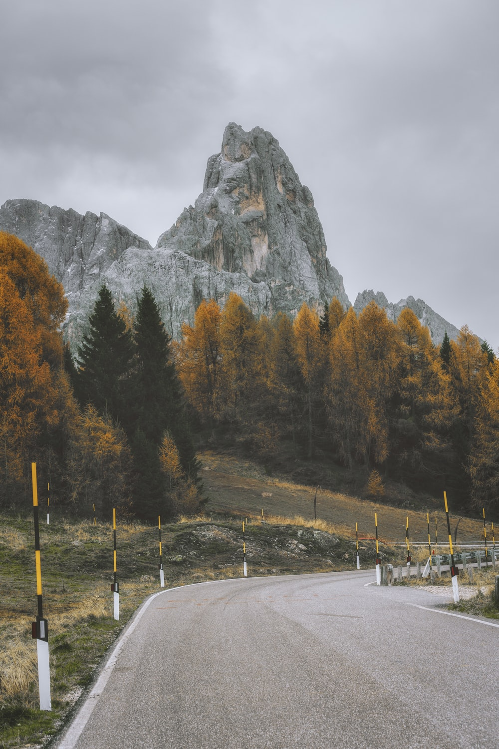 asphalt road and mountain scenery