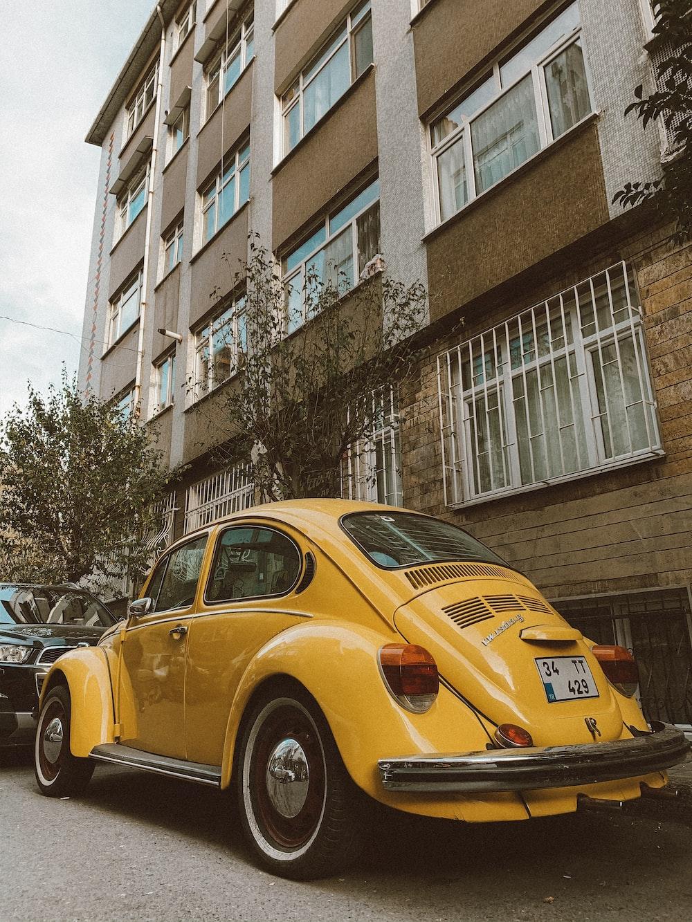 yellow Volkswagen new bike