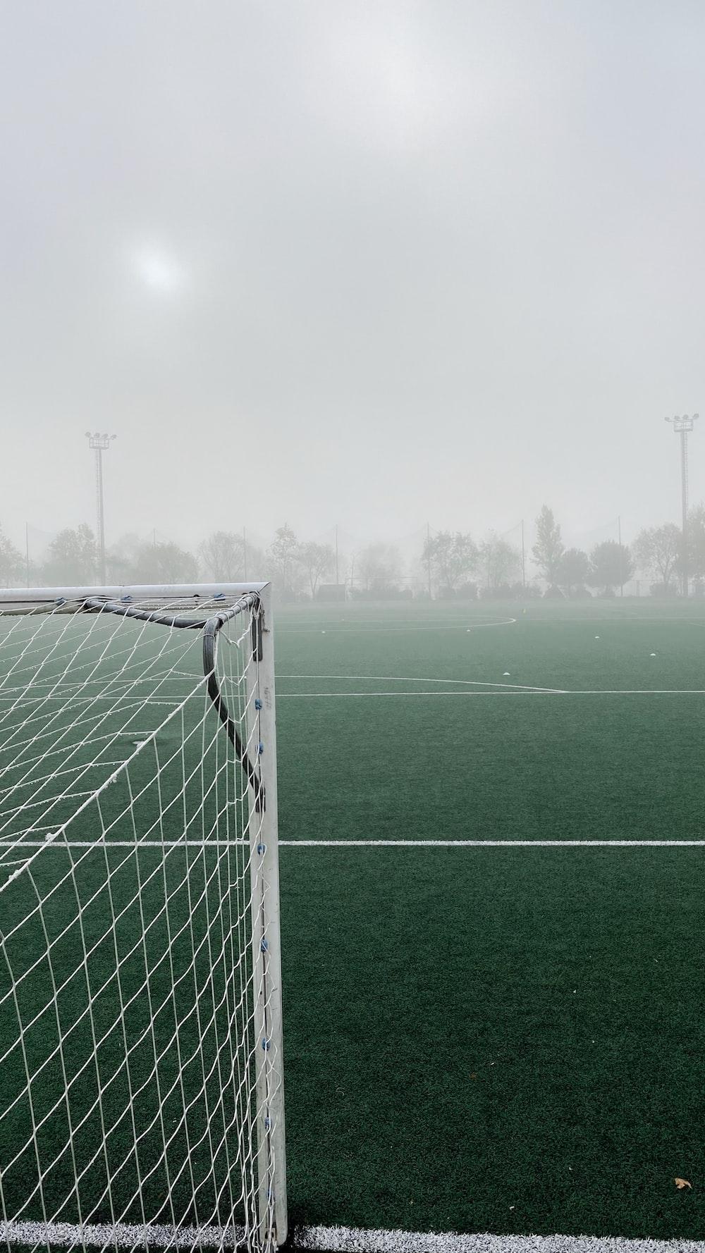 white goal net