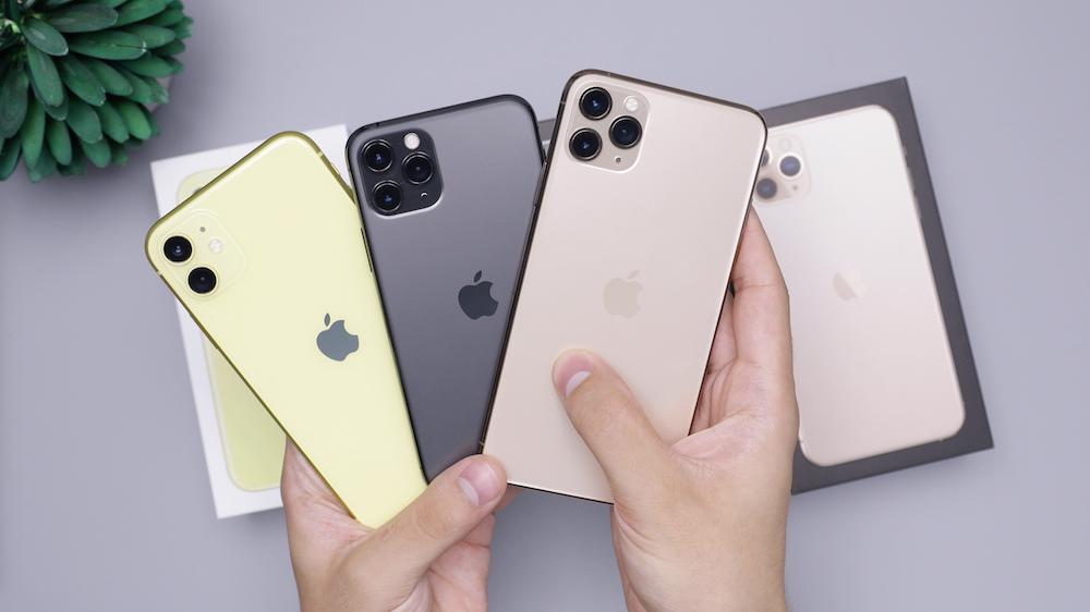 three iPhone 11 Pro Max