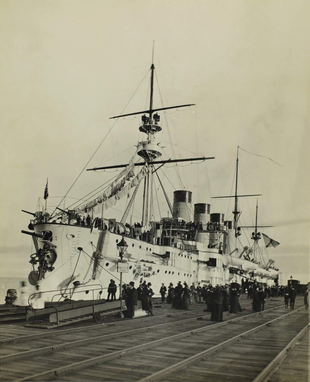 Federation Celebrations, 'The Russian Cruiser Cromoboi Lying at Port Melbourne Railway Pier', Melbourne, May1901
