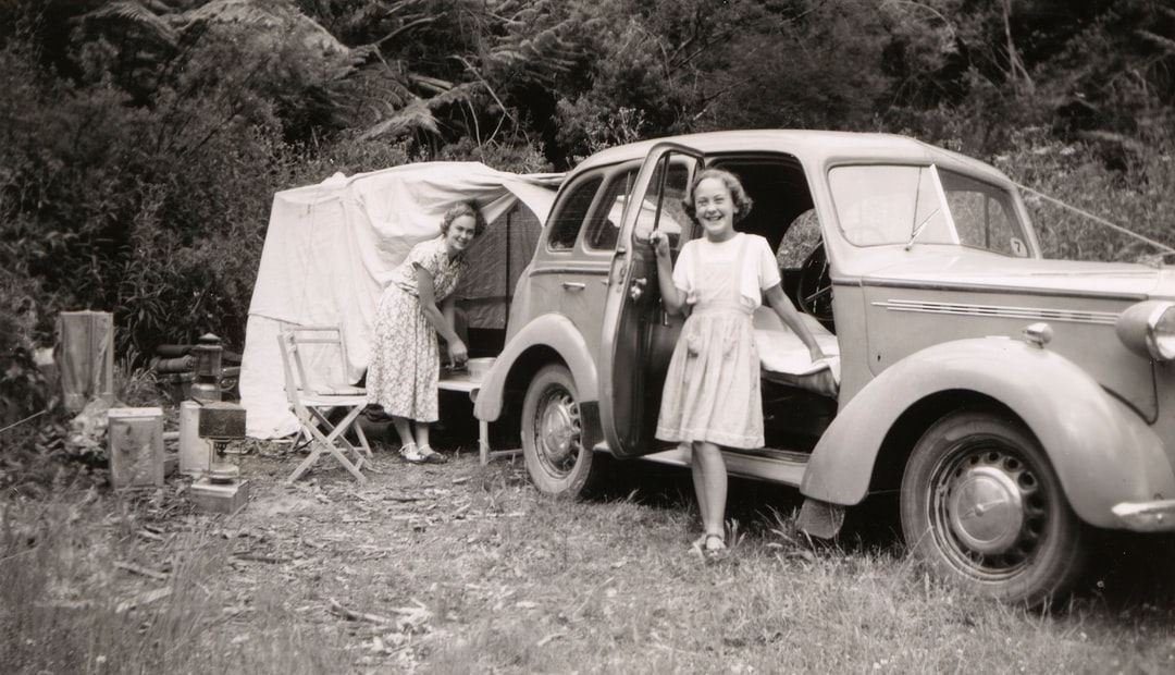 Family Camping at Phillip Island, Victoria, 1951. Photographer: Leslie E. Chambers
