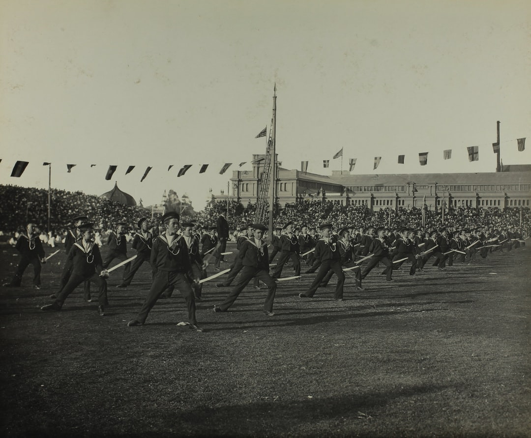 Federation Celebrations, 'State School Fete, Exhibition Building, Cutlass Drill', Melbourne, 11 May 1901