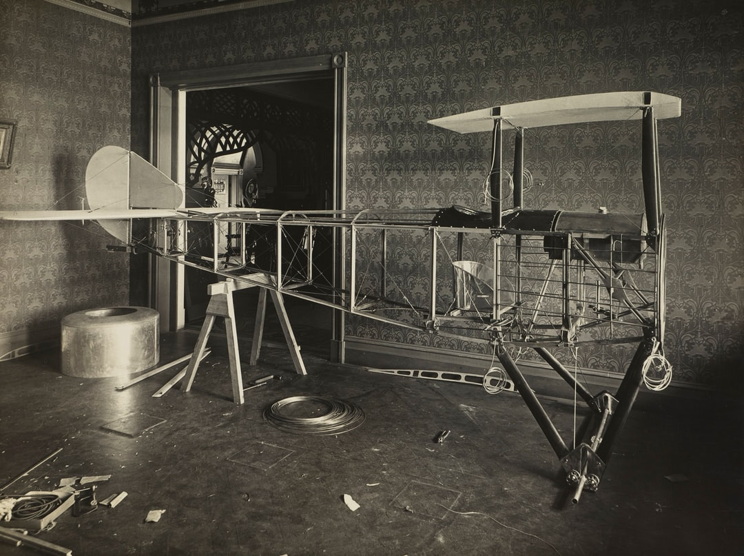Fuselage of Basil Watson's Partially Constructed Biplane in the Family Home, Elsternwick, Victoria, 1916