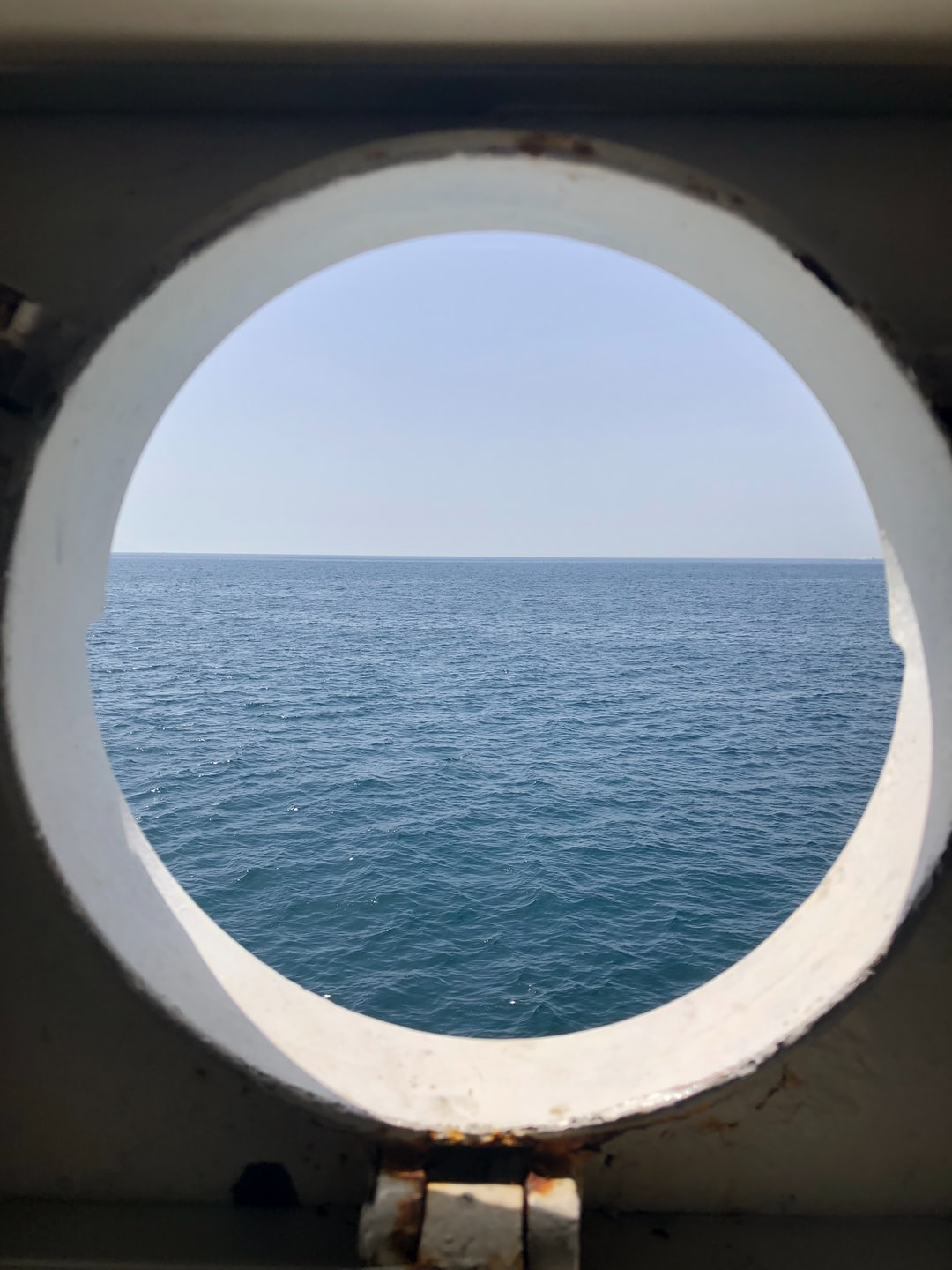 """A look to the south from the """"traghetto"""" connecting Ischia Porto and Naples. – I am an optimist :-)."""