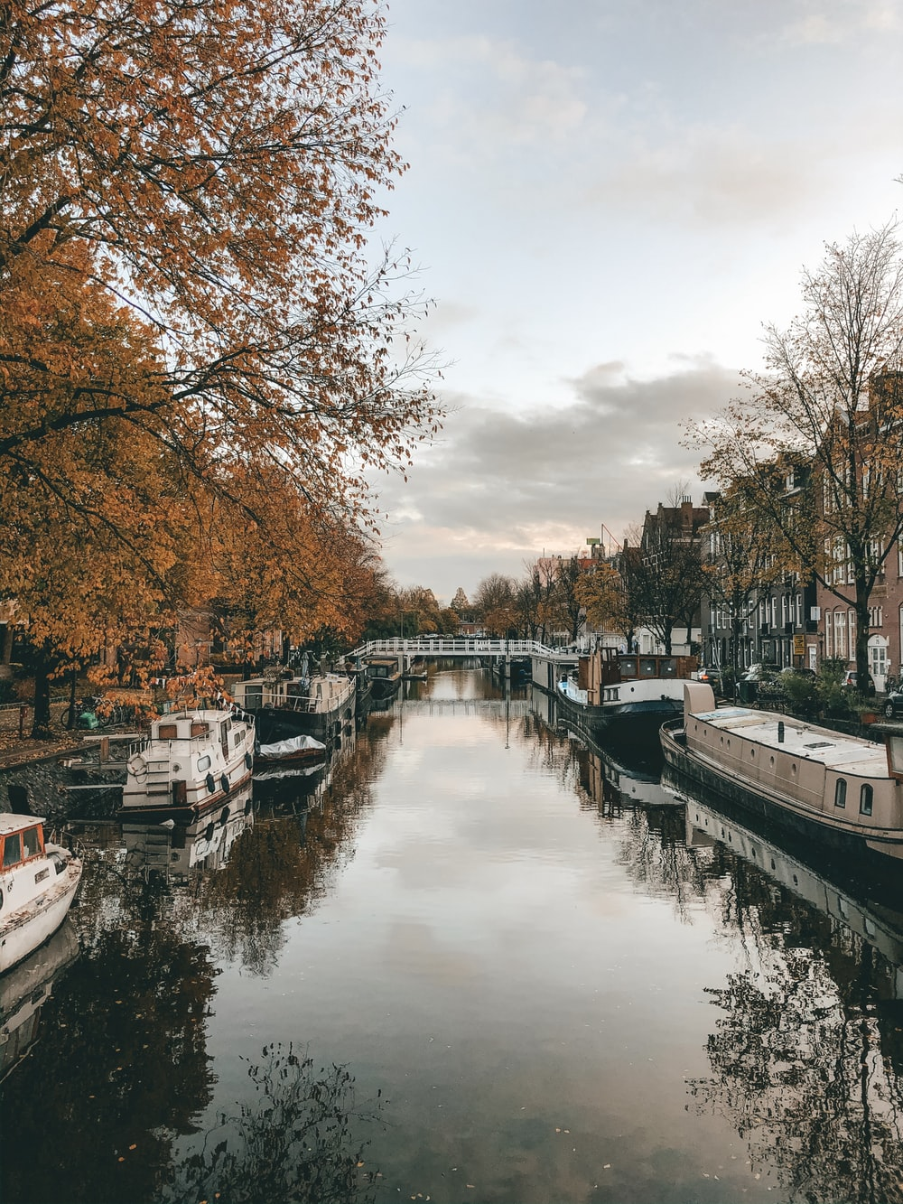 boats floating on a canal