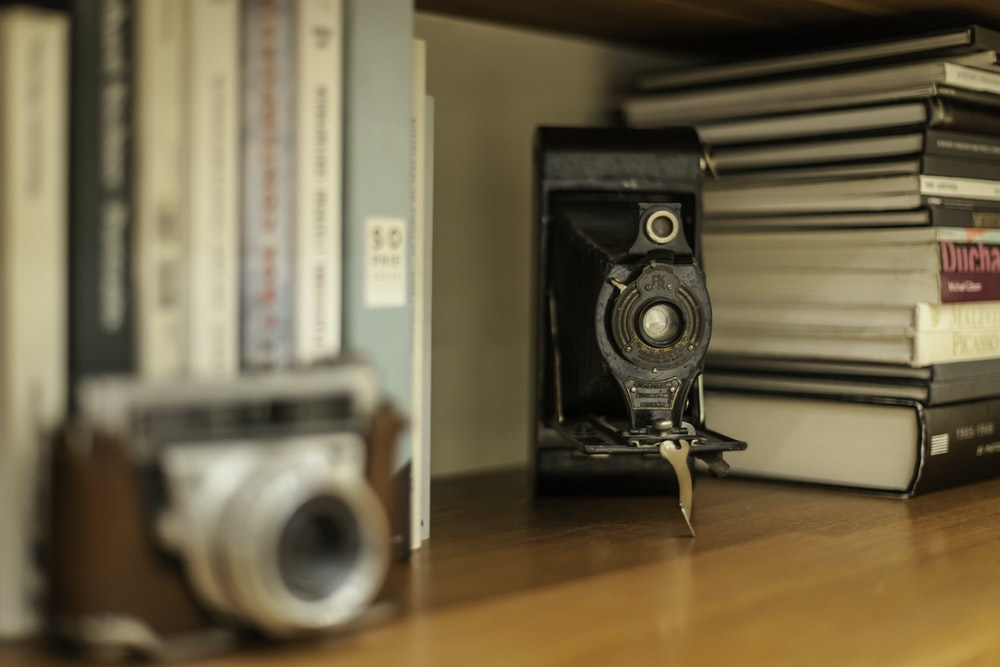 shallow focus photo of vintage black camera