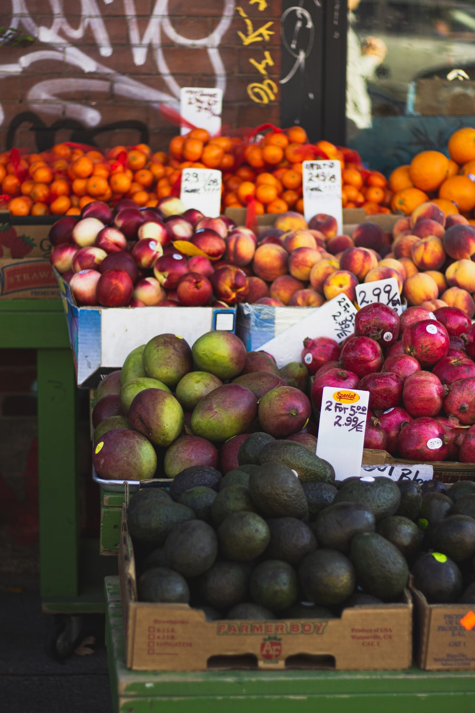 assorted-color fruit lot