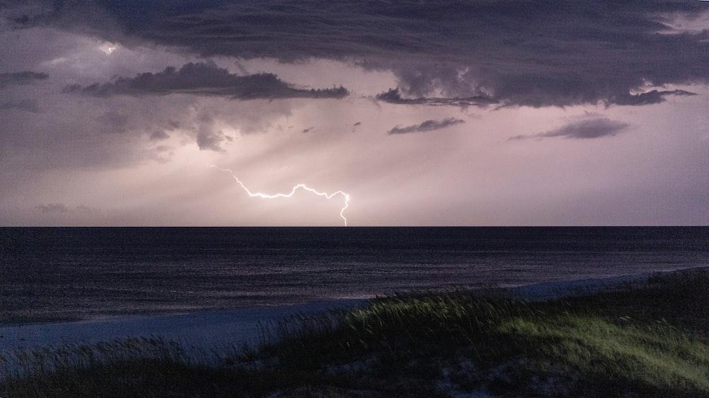thunder during nighttime