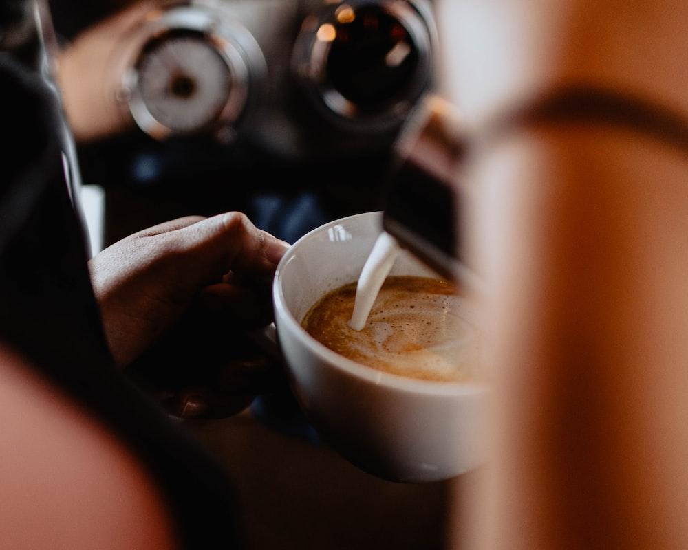 white teacup