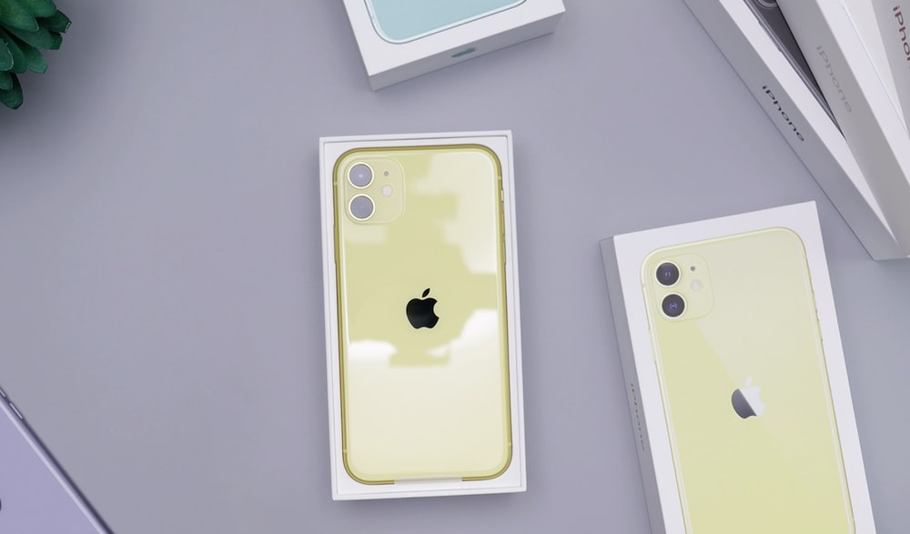 gold iPhone XI with box