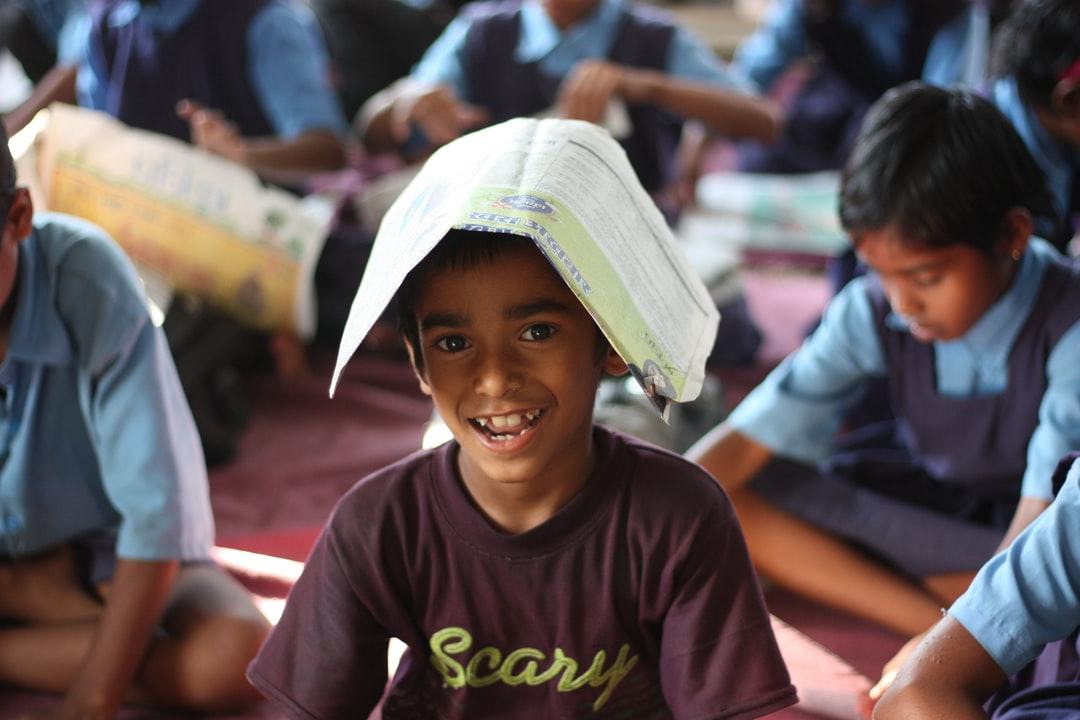 Happy Smiling Student from Government School in India