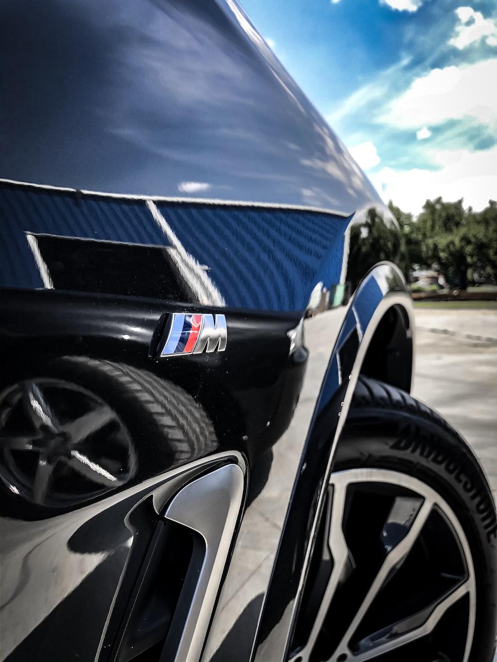 macro photography of blue vehicle