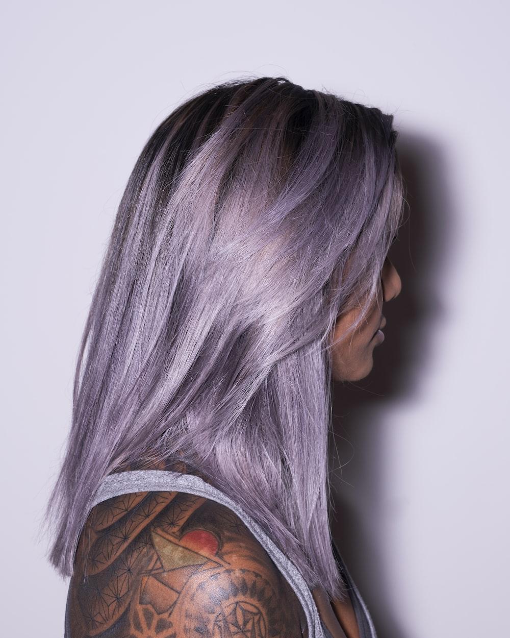 women's purple hair