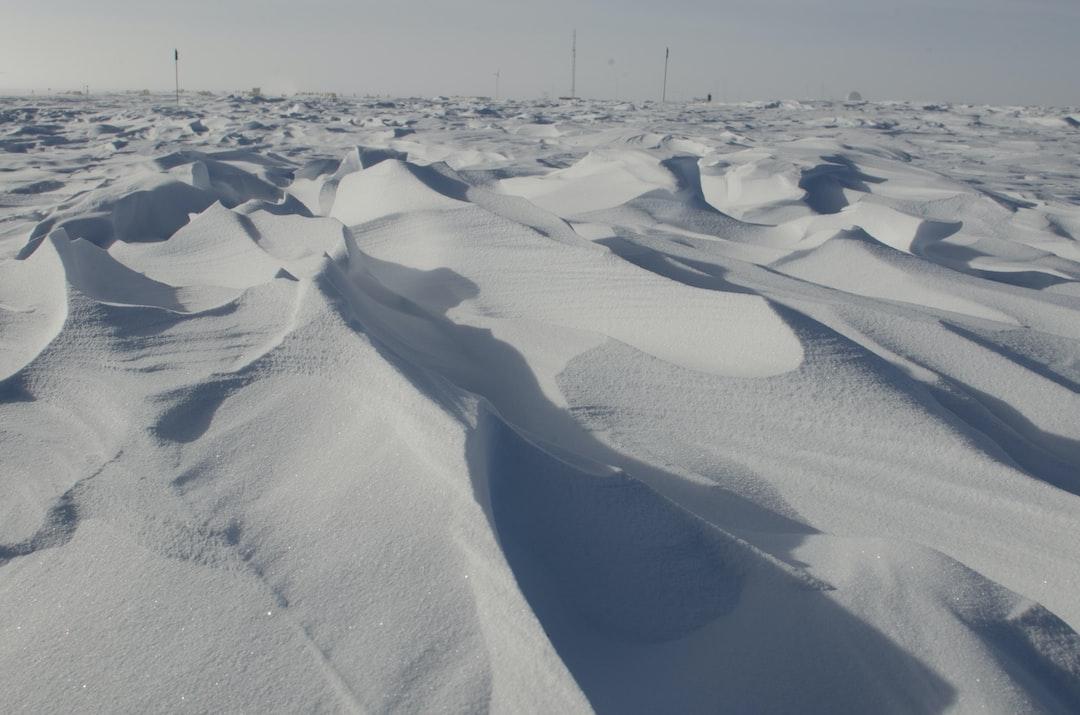 Sastrugi - wind sculpted snow