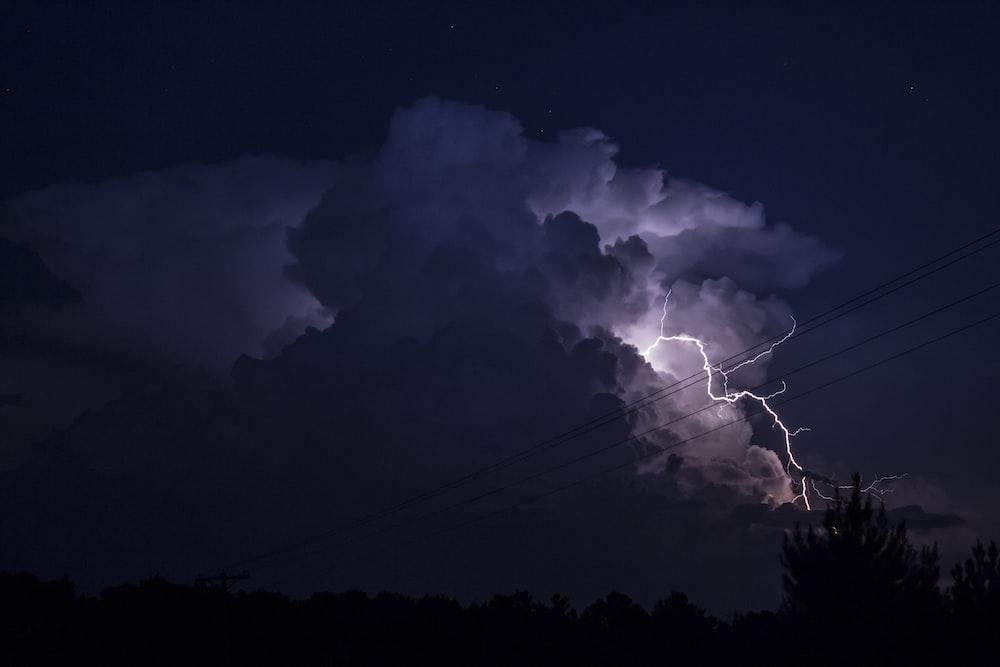 lightning on skies