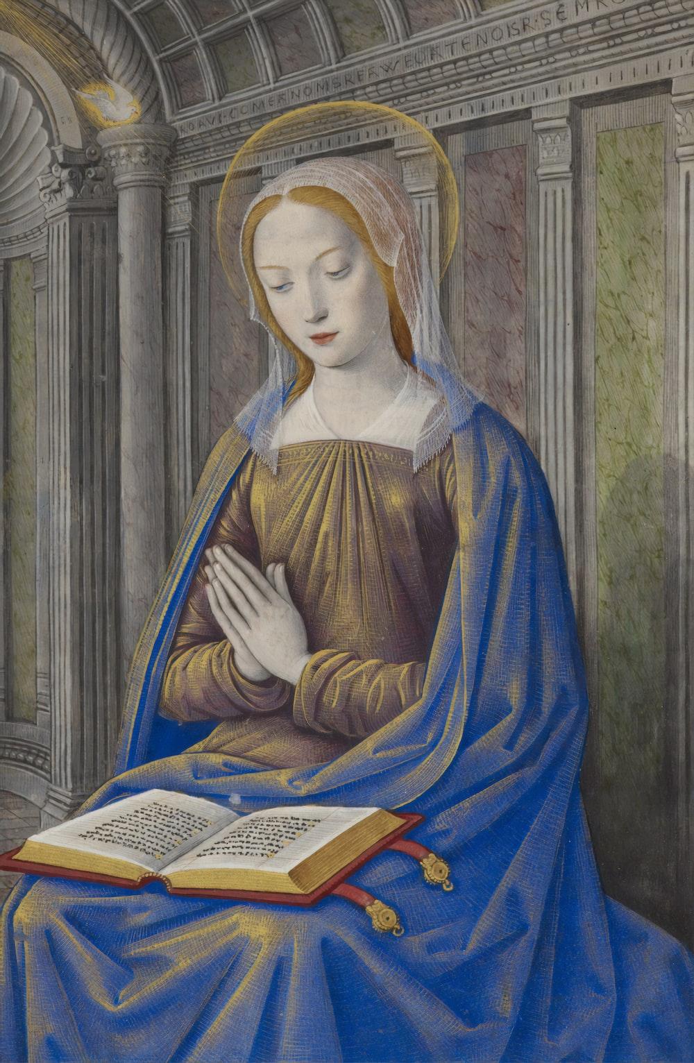 painting of woman praying