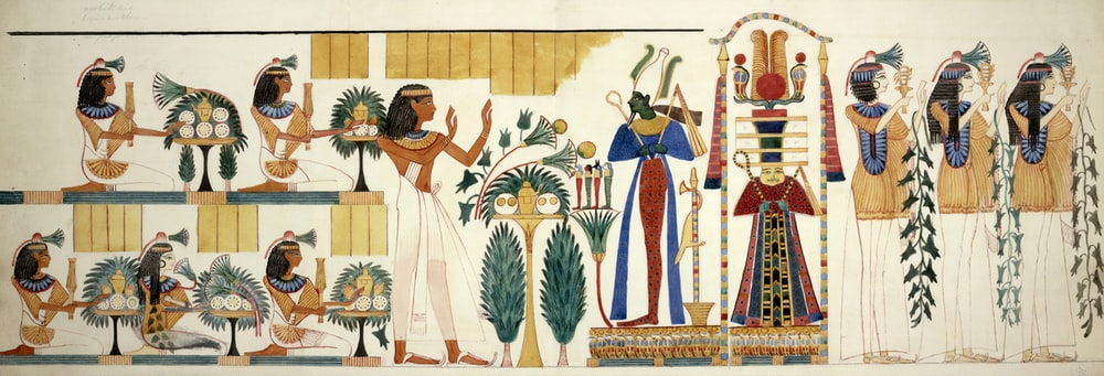 multicolored Egyptian painting