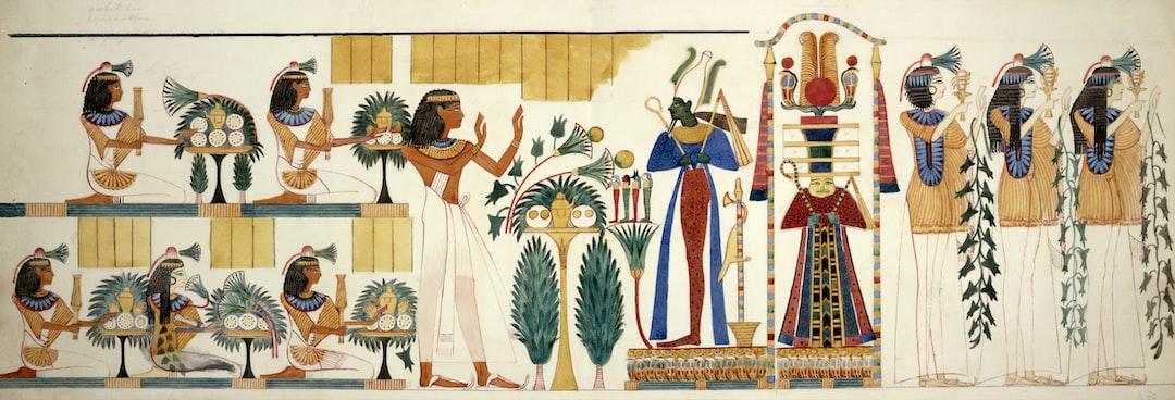 Egyptian tomb wall-painting, circa 1826