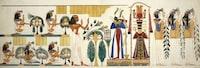 """""""Egyptian tomb wall-painting, circa 1826"""""""