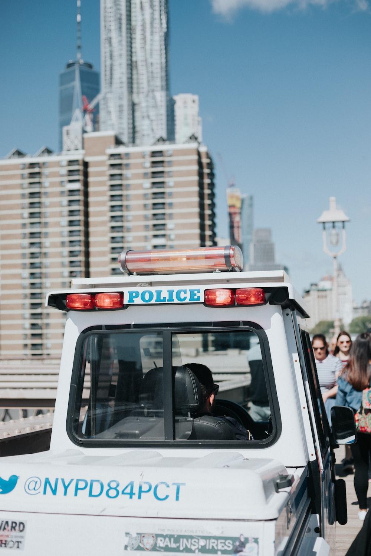 white Police vehicle