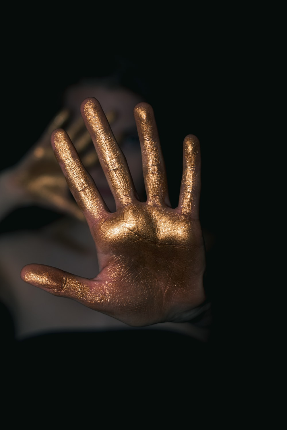 human hand with paint