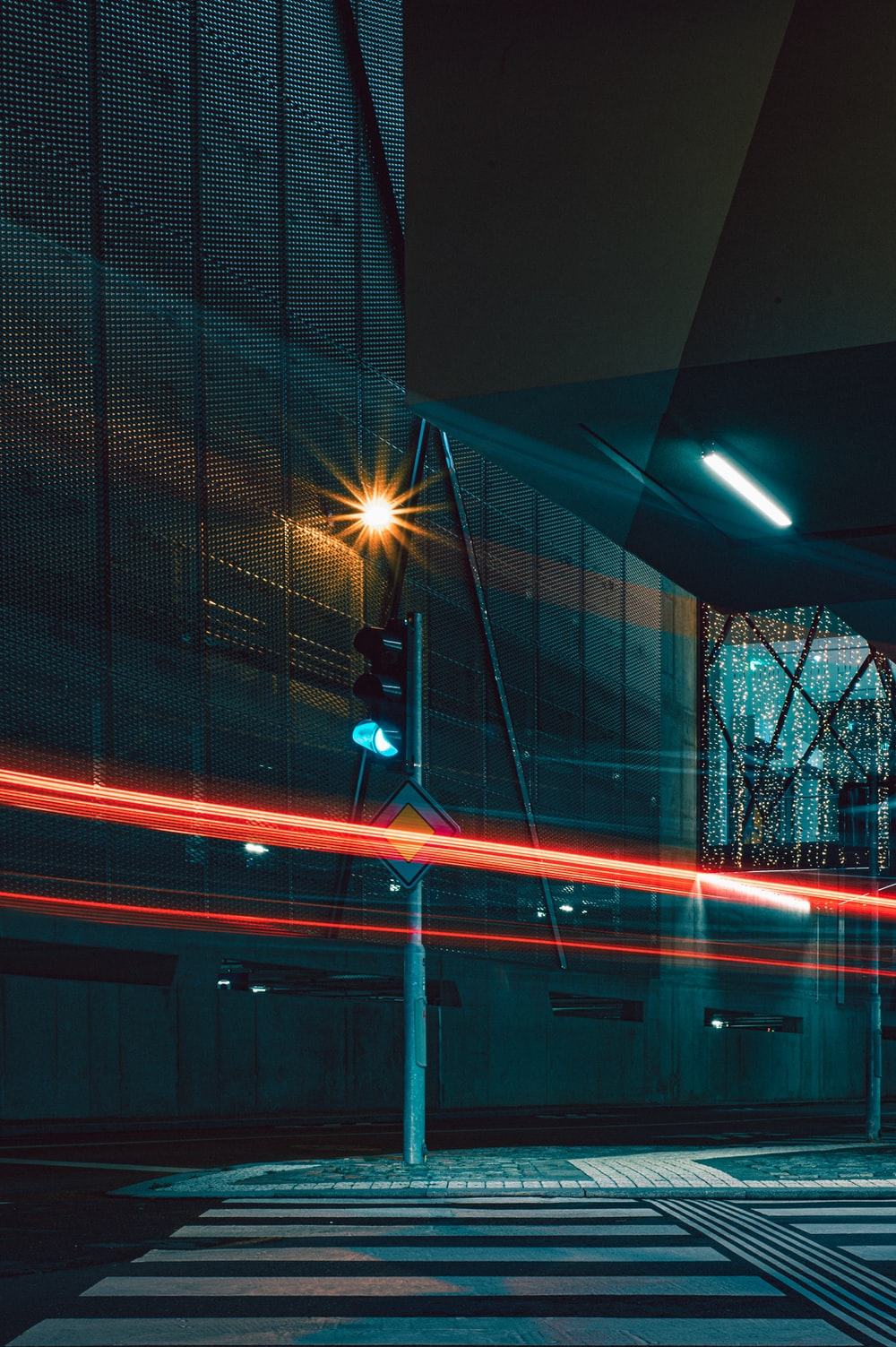 timelapse photography of red lights