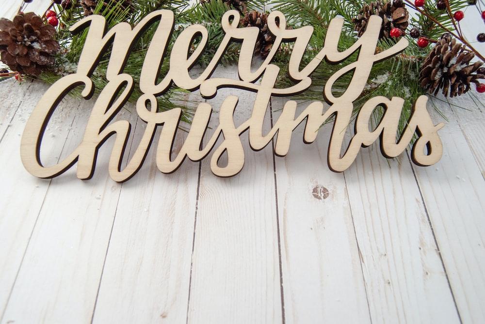Merry Christmas cutout decor